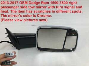 2013 2017 Dodge Ram 1500 3500 Right Side Tow Mirror With Heat 68285872aa