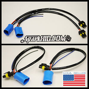 Xenon Hid Wire Harness Plugs Ballast Connector 9007 9004 Hb5 Bulbs Power Cables