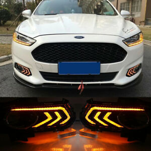 2pcs Led Daytime Running Fog Light Drl For Ford Fusion Mondeo 2013 2015 Car Lamp