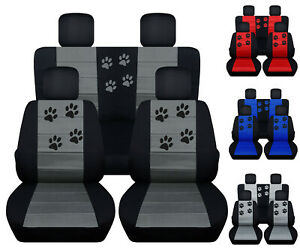 Cc Fit 2015 2018 Jeep Renegade Front And Rear Car Seat Covers Paw Prints