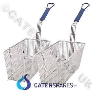 Universal Commercial Fryer Metal Chip Food Cooking Basket Twin Double Pack Parts