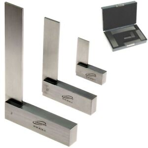 Machinist Square 90 3 Pc Right Angle Engineer Set 2 4 6 Din 875 Igaging