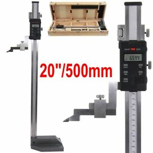 Digital Height Gauge 20 0 0005 500mm Electronic Inch mm Test Inspection Tool