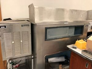 Bh1366s Used Scotsman Ice Storage Ice Bin And Ice Maker Head