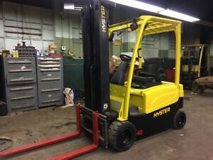 2012 Hyster Pneumatic Electric Forklift With Side Shift And Triple Mast