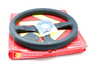 Momo Competition Steering Wheel Black Air Leather Black Stitching 350mm New