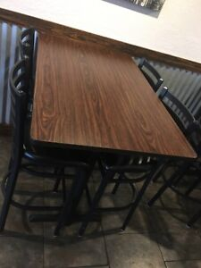 Restaurant Style 4 High Top And 8 Low Top Tables with 4 Chairs Each
