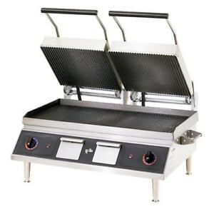 Star Cg28ib Pro max 28 In Grooved Sandwich Grill