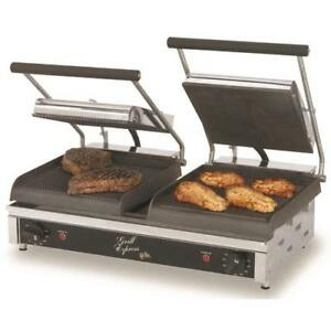 Star Gx20igs Grill Express 20 In Grooved smooth Sandwich Grill
