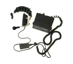 Motorola Syntorx Fm Two way Radio Control Head With Headset