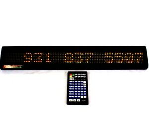 Colorbrite Programmable Led Display Moving Message Sign 25 x2 Display W remote