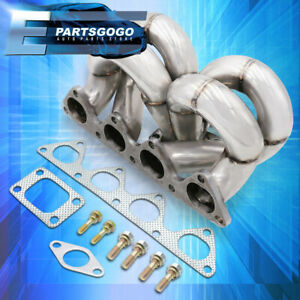 For Honda Civic del Sol B16 b18 T3 Turbo Flange Solid Stainless Exhaust Manifold