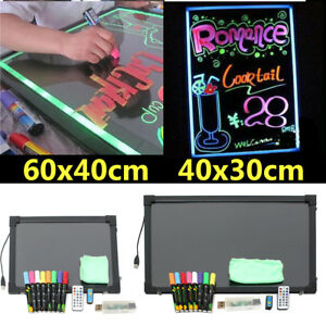 2 Sizes Flashing Illuminated Erasable Neon Led Message Menu Writing Sign Board