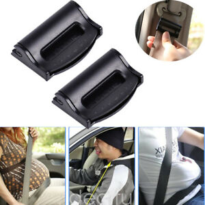 2x Universal Car Safety Seat Belt Strap Adjuster Comfort Clip Stopper Adjustable