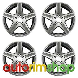 Mercedes E63 2010 2011 18 Factory Oem Amg Staggered Wheels Rims Set