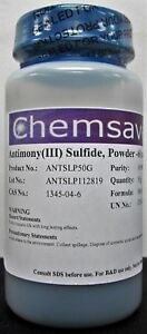 Antimony iii Sulfide Powder 60 Mesh 99 997 trace Metals Basis 50g