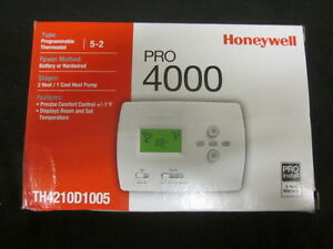 Honeywell Pro 5 2 Progr 2h 1c Thermostat Th4210d1005