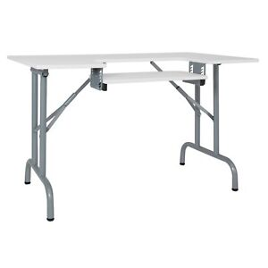 Studio Designs Folding Multipurpose Sewing Craft Table W Machine Shelf White