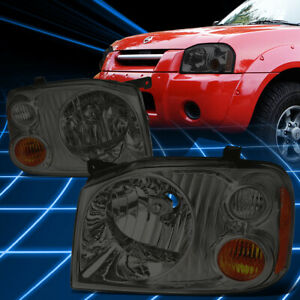 For 01 04 Nissan Frontier Smoked Housing Amber Corner Headlight Replacement Lamp