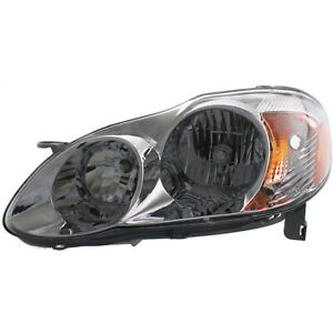 Headlight For 2003 2004 Toyota Corolla Driver Side W Bulb