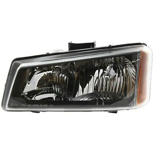 Headlight For 2003 2006 Chevy Silverado 1500 3500 Left Smooth Reflector