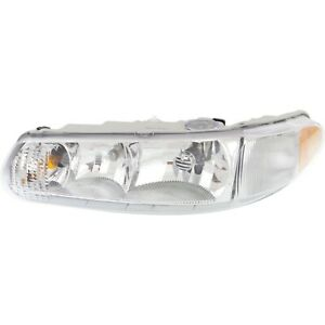 Headlight For 97 2005 Buick Century 97 2004 Regal Driver Side W Bulb