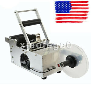 Mt 50 Semi automatic Round Bottle Labeling Machine Labeler Scrolling Portable Us