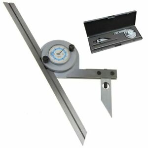 Bevel Dial Protractor 360 Precision Machinist Tool 6 12 Stainless Steel Blade