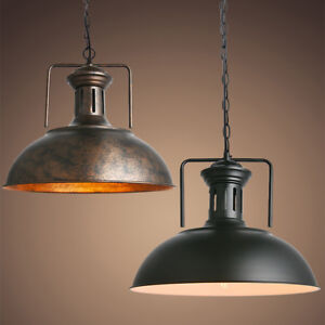 Vintage Industrial Pendant Light Ceiling Lamp Dome Dining Warehouse Bar Fixture