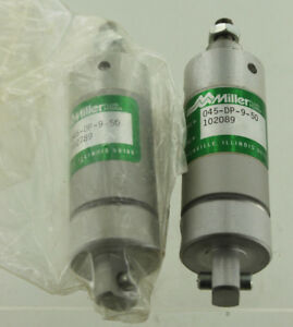 2 Miller 045 dp 9 50 Pneumatic Cylinder Lot New