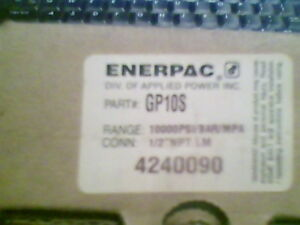 Enerpac Pressure Gauge 0 To 10000 4in 1 2 fnpt Gp 10s