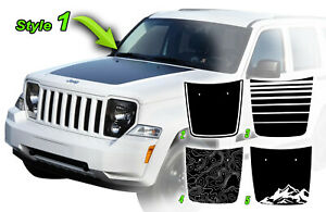 Jeep Liberty Arctic Style Hood Stripe Decal 2008 2009 2010 2011 2012 2013 1