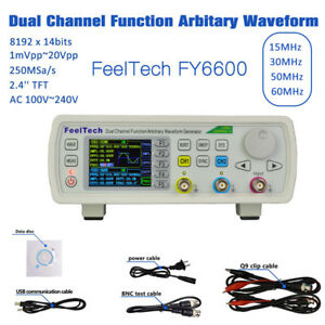 Feeltech 15mhz 60mhz 2ch Dds Function Signal Generator Sweep Frequency Cmos Vco