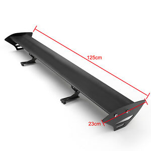 Universal Hatch Aluminum Gt Rear Trunk Wing Racing Spoiler Black New E4