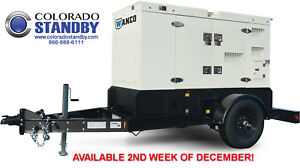 New Wanco Wsp70 56 Kw Silent Towable Diesel Generator With Dual Axle Trailer