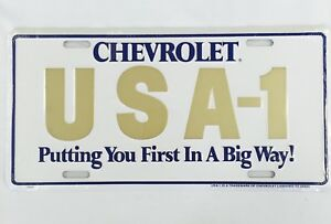 64 65 66 Chevelle Front Rear Bumper License Plate Tag Sign Metal Embossed Usa 1
