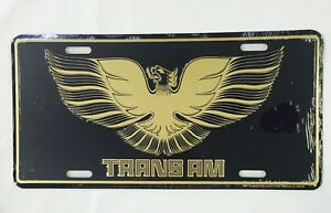 80 81 Pontiac Front Rear Bumper License Plate Sign Metal Embossed Trans Am