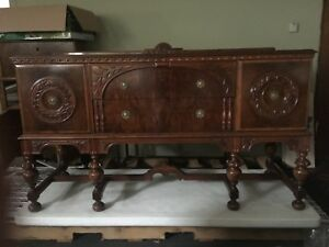 Vintage Rockford Furniture Company Dining Set Table 6 Chairs Sideboard