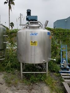 500 Gallon Sanifab Processing Mix Tank Steam Jacketed Need To Sell