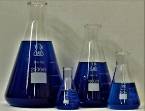 Tn Lab Glass Borosilicate Funnel Set Of 4 100 250 1000 2000ml Ships From Usa