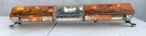 Code 3 Mx 7000 Amber 47 Light Bar With Arrowstik Clean Tested Working 6