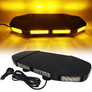 20 Led 3 Watts Amber Warning Emergency Beacon Truck Flash Roof Strobe Light Bar
