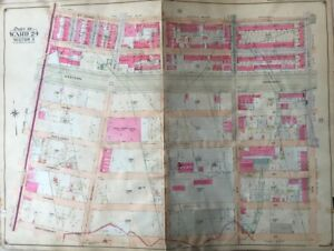 Orig 1904 Crown Heights Ny Troop C Armory First Brooklyn College Plat Atlas Map