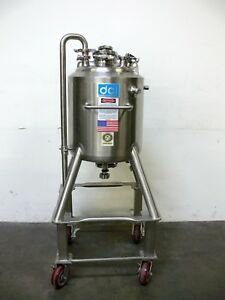 Dci 60 Liter Stainless Steel Jacketed Reactor Rated 45 Psi 150 Psi