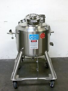 Dci 60 Liter Stainless Steel Jacketed Reactor W Expansion Joints