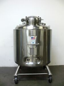 Pure flo Precision 1200 Liter Stainless Steel Jacketed Reactor Tank 45 Psi