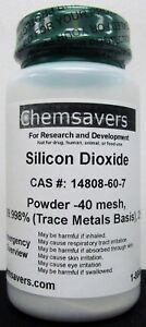 Silicon Dioxide Powder 40 Mesh 99 998 trace Metals Basis 25g