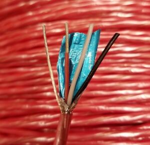 500 Ft 18 4 Shielded Fplp High Temp Plenum Fire Alarm Cable Red Copper Wire