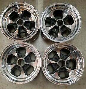 Set Of 4 U S Wheels Buick Replicas Wheel Rims 14 Inch 5 Lug Steel Chrome