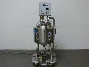 Precision 50 Liter 316l Stainless Steel Jacketed Reactor W Lightnin Mixer